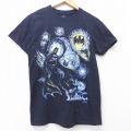 S★古着 半袖 Tシャツ DCコミックス バットマン BATMAN コットン クルーネック 黒 ブラック 20jul17 中古 メンズ