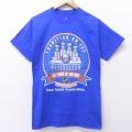 S★古着 半袖 Tシャツ NHL ニューヨークアイランダース コットン クルーネック 青 ブルー アイスホッケー 21mar17 中古 メンズ