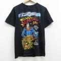 M★古着 半袖 Tシャツ DCコミックス スーパーマン コットン クルーネック 黒 ブラック 21mar31 中古 メンズ
