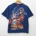 M★古着 半袖 Tシャツ マーベル アイアンマン コットン クルーネック 紺 ネイビー 21apr20 中古 メンズ