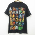 L★古着 半袖 Tシャツ メンズ マーベル アイアンマン キャプテンアメリカ ヴェノム クルーネック 黒 ブラック 21jun22 中古