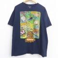 XL★古着 半袖 Tシャツ メンズ ラグラッツ アンジェリカ チャッキーフィンスター コットン クルーネック 黒 ブラック 21jun22 中古