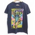 L★古着 半袖 Tシャツ メンズ スターウォーズ STAR WARS ダースベイダー コットン クルーネック 黒 ブラック 21jun22 中古