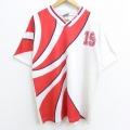 XL★古着 半袖 サッカー Tシャツ 90年代 90s プーマ puma 19 ブリットイースト Vネック USA製 白 ホワイト ユニフォーム 20jun17 中古 メンズ