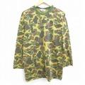 L★古着 長袖 ビンテージ Tシャツ 90年代 90s ダックスバック クルーネック 茶系他 ブラウン 迷彩 20sep03 中古 メンズ