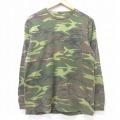 L★古着 長袖 Tシャツ レッドヘッド 胸ポケット付き コットン クルーネック 緑他 グリーン 迷彩 21mar10 中古 メンズ