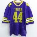 XL★古着 半袖 ビンテージ フットボール Tシャツ 80年代 80s 44 大きいサイズ Vネック USA製 紫 パープル 21apr16 中古 メンズ