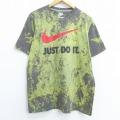 L★古着 半袖 ブランド Tシャツ ナイキ NIKE JUST DO IT クルーネック グレー他 ブリーチ加工 20jul01 中古 メンズ