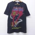 XL★古着 半袖 ロック バンド Tシャツ ジャンクフード JUNK FOOD AC/DC 大きいサイズ コットン クルーネック 黒 ブラック 20jul30 中古 メンズ