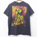 L★古着 半袖 ロック バンド Tシャツ ジミヘンドリックス クルーネック 黒 ブラック 20aug04 中古 メンズ