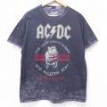 L★古着 半袖 ロック バンド Tシャツ AC/DC ブリティッシュツアー コットン クルーネック 黒 ブラック 20aug04 中古 メンズ