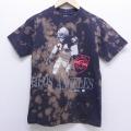 XS★古着 半袖 ビンテージ Tシャツ 80年代 80s NFL ロサンゼルスレイダース クルーネック 黒 ブラック ブリーチ加工 20jun17 中古 メンズ