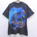 L★古着 半袖 ビンテージ Tシャツ 90年代 90s リーボック REEBOK シャキールオニール コットン クルーネック USA製 黒 ブラック 【spe】 20jun24 中古 メンズ