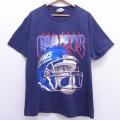 L★古着 半袖 ビンテージ Tシャツ 90年代 90s リー Lee NFL ニューヨークジャイアンツ コットン クルーネック USA製 紺 ネイビー アメフト スーパーボウル 20jun29 中古 メンズ
