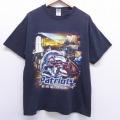 L★古着 半袖 ビンテージ Tシャツ 00年代 00s NFL ニューイングランドペイトリオッツ コットン クルーネック 黒 ブラック アメフト スーパーボウル 20jun29 中古 メンズ