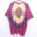 XL★古着 半袖 ビンテージ Tシャツ 90年代 90s リキッドブルー NFL サンフランシスコフォーテナイナーズ 49ers 大きいサイズ コットン クルーネック 赤 レッド タイダイ 20jun30 中古 メンズ