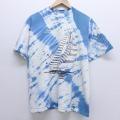 L★古着 半袖 ビンテージ Tシャツ 80年代 80s ヨット コットン クルーネック USA製 白他 ホワイト タイダイ 20jul02 中古 メンズ