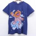 L★古着 半袖 ビンテージ Tシャツ 90年代 90s セサミストリート アーニー コットン クルーネック USA製 紺 ネイビー 20jul08 中古 メンズ