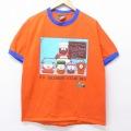 L★古着 半袖 ビンテージ Tシャツ 90年代 90s サウスパーク コットン クルーネック USA製 オレンジ リンガー 【spe】 20jul08 中古 メンズ