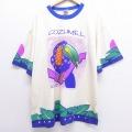 XL★古着 半袖 ビンテージ Tシャツ 90年代 90s 鳥 大きいサイズ クルーネック 生成り 20jul10 中古 メンズ