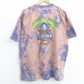 XL★古着 半袖 ビンテージ Tシャツ 90年代 90s スロッピージョー キーウエスト 男性 刺繍 大きいサイズ コットン クルーネック 紺他 ネイビー ブリーチ加工 20jul10 中古 メンズ