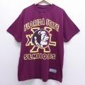 XL★古着 半袖 ビンテージ Tシャツ 00年代 00s フロリダ 大きいサイズ クルーネック エンジ 20jul10 中古 メンズ
