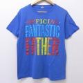 L★古着 半袖 ビンテージ Tシャツ 80年代 80s オフィシャル クルーネック USA製 青 ブルー 20jul15 中古 メンズ