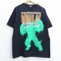 XL★古着 半袖 ビンテージ Tシャツ 00年代 00s マーベル ハルク コットン クルーネック 黒 ブラック 20jul20 中古 メンズ
