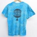 L★古着 半袖 ビンテージ Tシャツ 80年代 80s 気球 クルーネック USA製 水色 ブリーチ加工 20jul27 中古 メンズ
