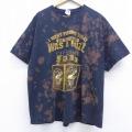 XL★古着 半袖 ビンテージ Tシャツ 00年代 00s ビール 大きいサイズ コットン クルーネック 黒 ブラック ブリーチ加工 20jul27 中古 メンズ