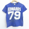 S★古着 半袖 ビンテージ Tシャツ 70年代 70s ラッセル エドワーズ アセンブリ 79 コットン クルーネック USA製 青 ブルー 20aug26 中古 メンズ