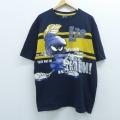 XL★古着 半袖 ビンテージ Tシャツ 00年代 00s LOT29 ルーニーテューンズ LOONEY TUNES マービンザマーシャン 大きいサイズ コットン クルーネック 黒 ブラック 20sep02 中古 メンズ