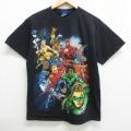 M★古着 半袖 ビンテージ Tシャツ 00年代 00s DCコミックス バットマン BATMAN スーパーマン コットン クルーネック 黒 ブラック 21mar19 中古 メンズ