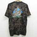 XL★古着 半袖 ビンテージ Tシャツ 90年代 90s サル ビール クルーネック USA製 黒 ブラック ブリーチ加工 21apr06 中古 メンズ