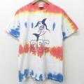 M★古着 半袖 ビンテージ Tシャツ メンズ 00年代 00s サメ コットン クルーネック 白他 ホワイト 21jun22 中古