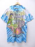 XL★古着 ビンテージ ロック バンド Tシャツ 90年代 オールマンブラザーズバンド 大きいサイズ 青 ブルー タイダイ 【spe】 19jul18 中古 メンズ