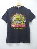 M★古着 ビンテージ ロック バンド Tシャツ 80年代 スコーピオンズ USA製 黒 ブラック 19aug26 中古 メンズ