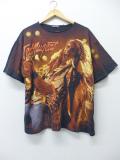XL★古着 ビンテージ ロック バンド Tシャツ 90年代 テッドニュージェント 全面プリント 大きいサイズ 黒 ブラック 【spe】 19aug26 中古 メンズ