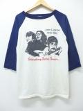 L★古着 7分袖 ビンテージ ロック バンド Tシャツ 80年代 ジョンレノン ラグラン 白 ホワイト 【spe】 19aug26 中古 メンズ