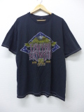 XL★古着 ビンテージ ロック バンド Tシャツ 90年代 レイナードスキナード レーナードスキナード 大きいサイズ 黒 ブラック 19sep16 中古 メンズ