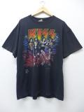 XL★古着 ビンテージ ロック バンド Tシャツ 90年代 キッス Kiss 大きいサイズ 黒 ブラック 19sep16 中古 メンズ