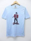 S★古着 ビンテージ ロック バンド Tシャツ 80年代 マイケルジャクソン USA製 水色 リンガー 【spe】 19sep16 中古 メンズ