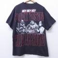XL★古着 半袖 ビンテージ ヒップホップ ラップ Tシャツ BIG RICH 大きいサイズ クルーネック 黒 ブラック 20mar20 中古 メンズ