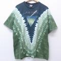 XL★古着 半袖 ビンテージ ロック バンド Tシャツ 00年代 00s リキッドブルー ピンクフロイド 大きいサイズ コットン クルーネック USA製 緑 グリーン タイダイ 20jun22 中古 メンズ