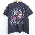 L★古着 半袖 ビンテージ ロック バンド Tシャツ 90年代 90s リンゴスター トッドラングレイ ジャックブルース コットン クルーネック 黒 ブラック 21apr13 中古 メンズ