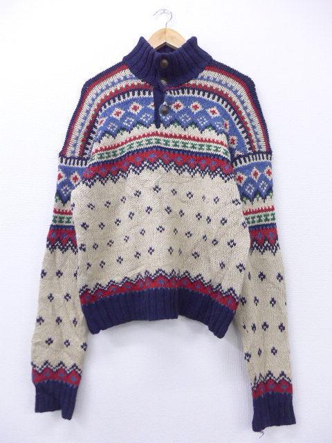 L★古着 セーター 90年代 ラルフローレン Ralph Lauren コットン 生成り 【spe】 19mar12 中古 メンズ ニット トップス
