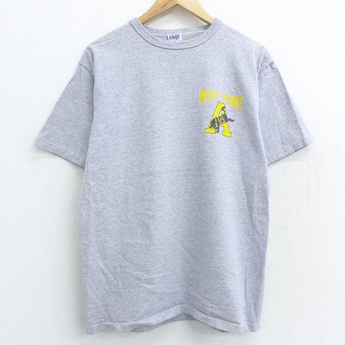 M★古着 半袖 ビンテージ Tシャツ 90年代 90s ミリタリー A 馬 WEST POINT クルーネック グレー 霜降り 【spe】 21apr27 中古 メンズ