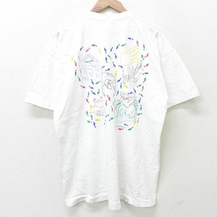 XL★古着 半袖 ビンテージ Tシャツ メンズ 90年代 90s ハードロックカフェ エアロスミス コットン クルーネック 白 ホワイト 【spe】 21jun08 中古