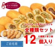 お楽しみいっぱい&ちょっぴりお得 ピロシキ6種類12個セット(6種類×2個/冷凍)