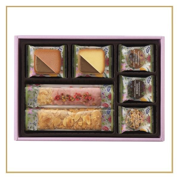 ロイスダールギフト フラワーパッケージ<アマンドリーフ×3、ストロベリーショコラリーフ×2、クッキー5種計19枚>